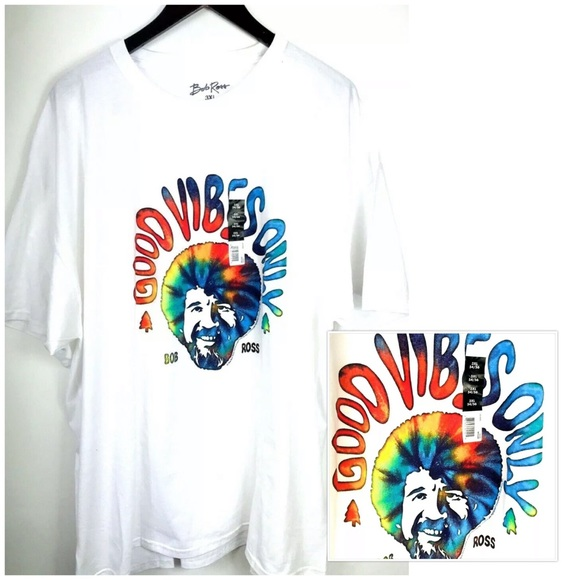 43d1ad20 Bob Ross Shirts   Tshirt White Good Vibes Only Tye Dye   Poshmark